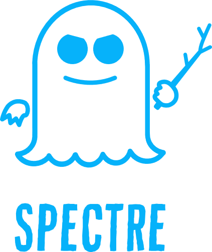 Hardware security - Spectre logo with text